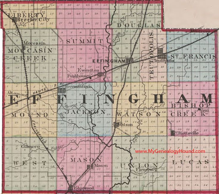 Towns of Effingham County, Illinois
