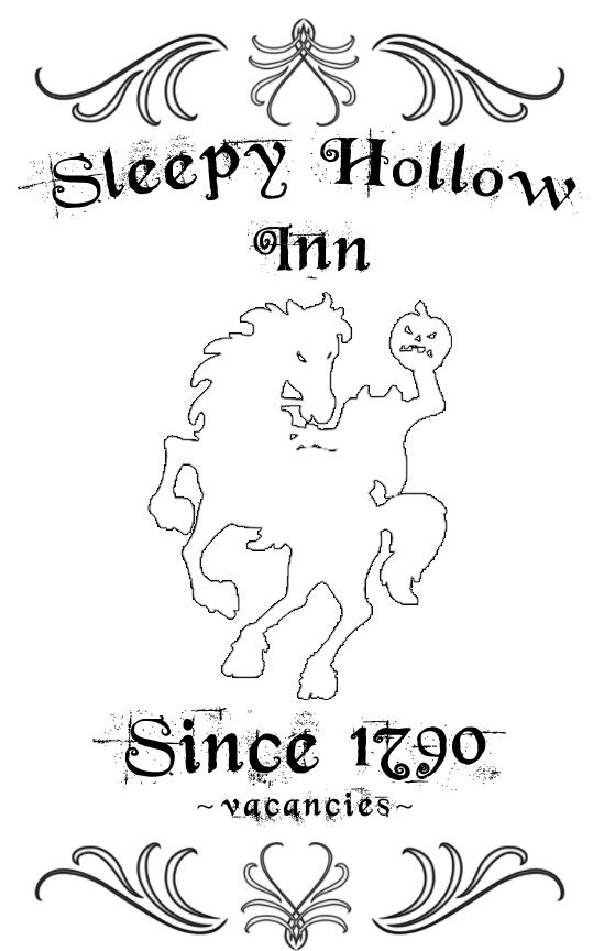 Sleepy Hollow Inn sign tutorial from BetterAfter.net