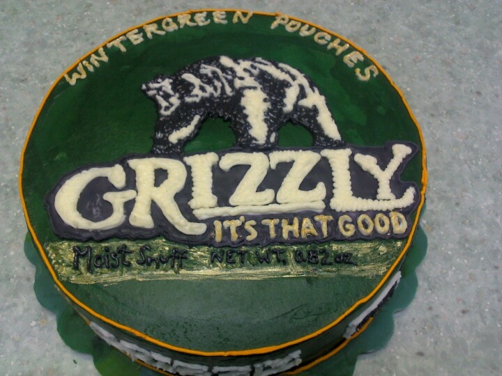 Grizzly Dip Can Cake