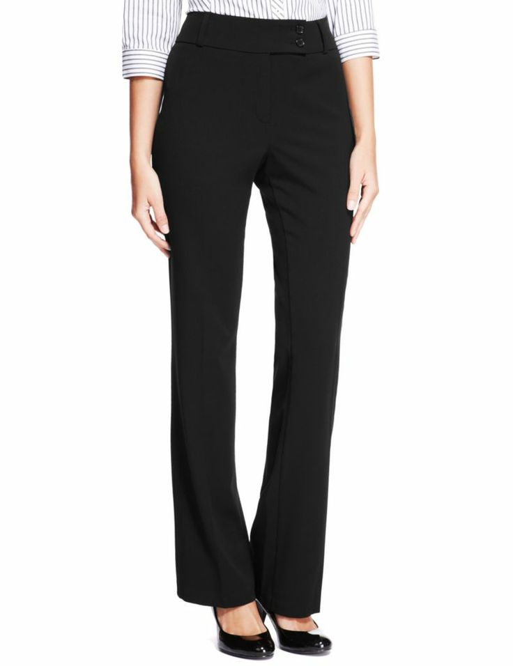 Waist Button Bootleg Trousers | M&S