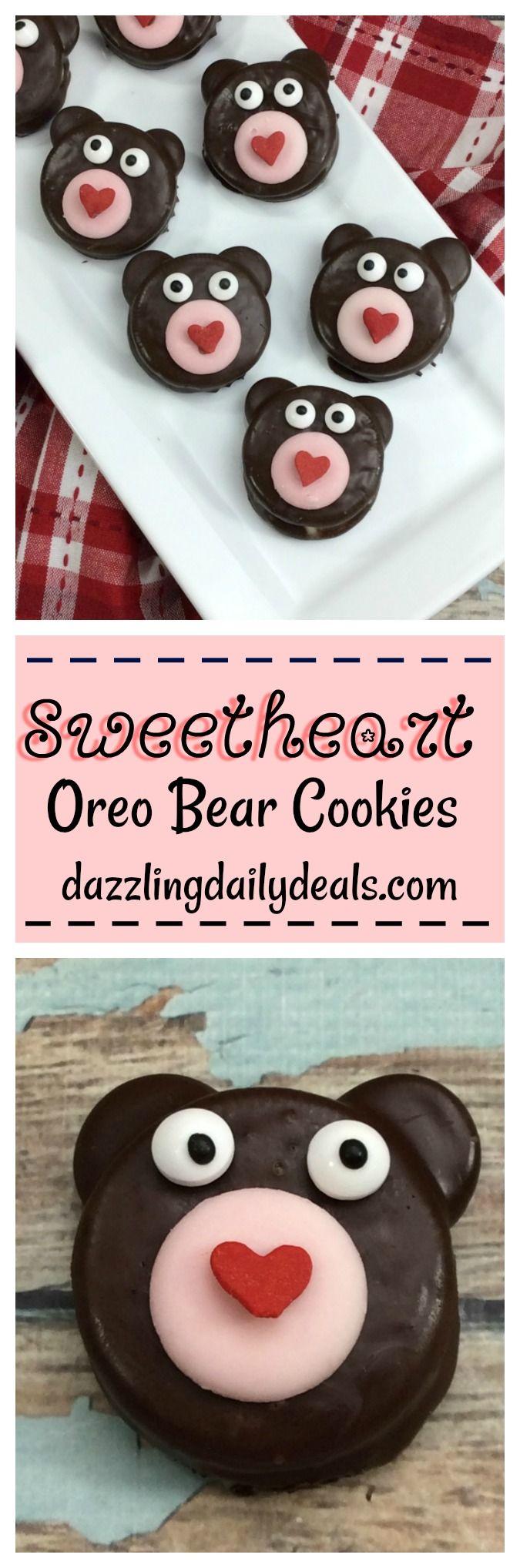 Sweetheart Oreo Bear Cookies #recipe | Dazzling Daily Deals