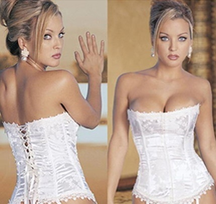 Stunning With Crystal Heart Lingerie you can wear a beautiful white lace up back corset