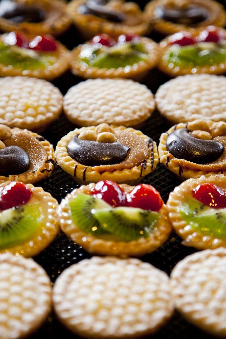 Miss Maud Petit Tarts - sweet and delightful platter of tarts - this picture shows Zesty Lemon, Fresh Fruit and Chocolate Hazelnut!