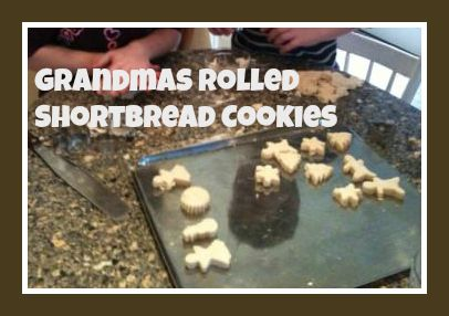 Rolled Shortbread Recipe- let the kids decorate! #Christmas #baking