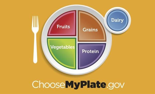 Healthy food and portion cont Choose MyPlate portion plate for adults and teens
