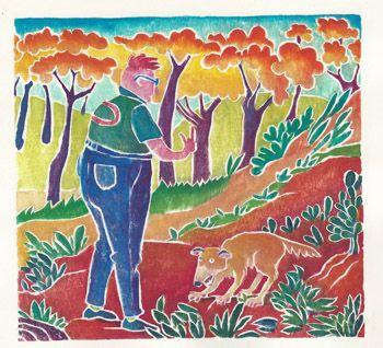 Dog Walker by Linda Kelen | Dogs, Needlepoint canvases