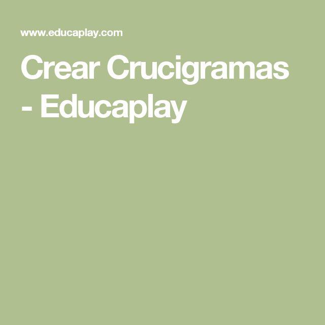 Crear Crucigramas - Educaplay