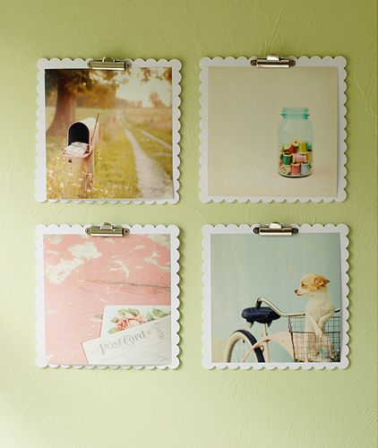scalloped photo frames