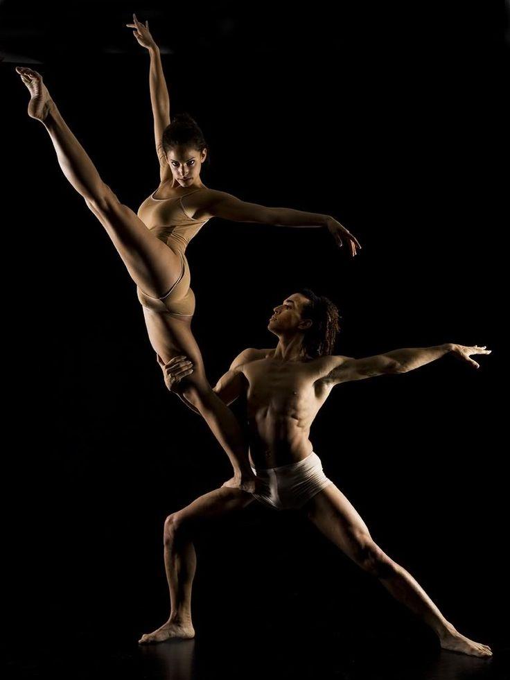 Beautiful ballet dancer performing studio sexy stock photo