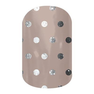 Jamberry Icy Taupe Polka