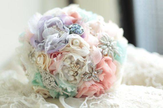 Macaronic Style Fabric Bouquet by CallistoBouquets on Etsy