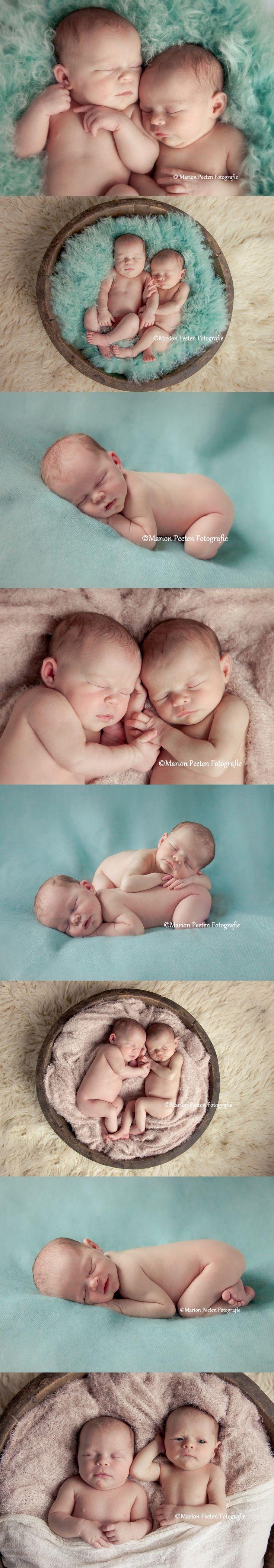 Newborn twins by Marion Peeten Fotografie# pasgeboren tweeling#studio…