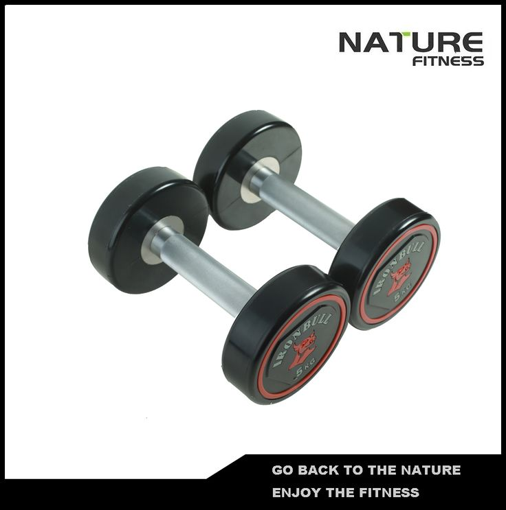 Wholesale New Color Logo PU dumbbell For Sale