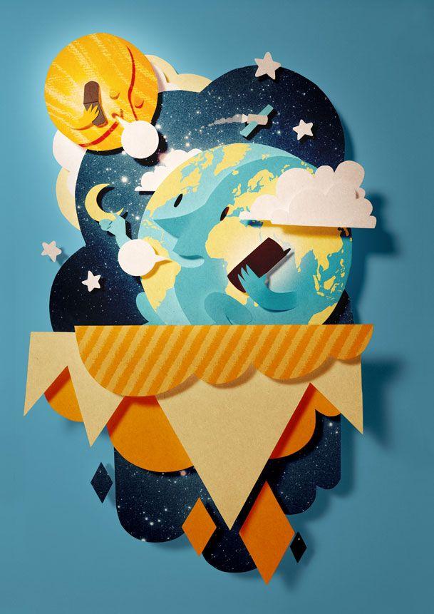Ilustración con papel