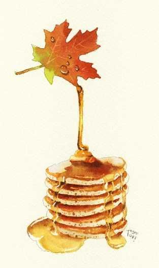 Oh Canada! Maple Syrup on pancakes! Love this image!