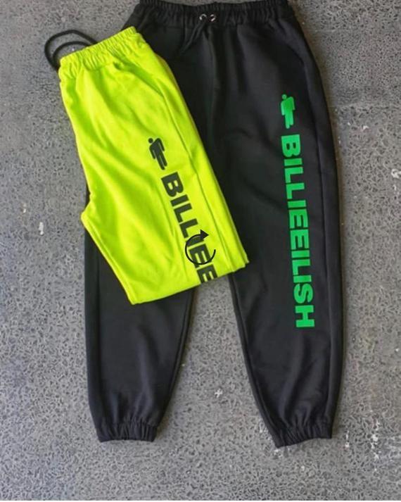 New Arrival Billie Eilish Sweatpants Billie Eilish Hang Billie Eilish Neon Green Track Pants Black Sweat Pants In 2020 Billie Eilish Billie Eilish Merch Neon Green Outfits