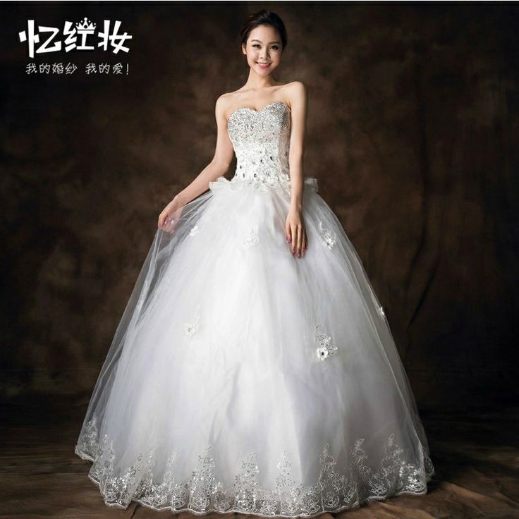 Free Shipping Tube top bride bandage married princess maternity autumn and winter wedding dress