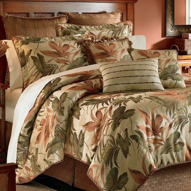 Bali Palm Tropical Comforter Bedding Sets by Croscill