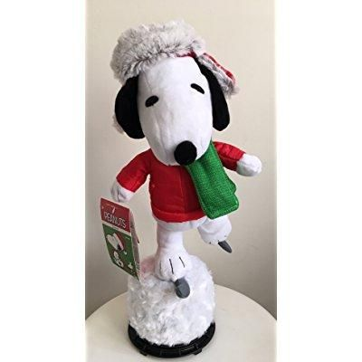 15 peanuts animated musical winter ice skating snoopy plush - Walmart.com