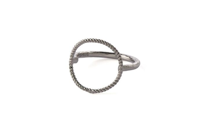 Twisted Open Coin Ring