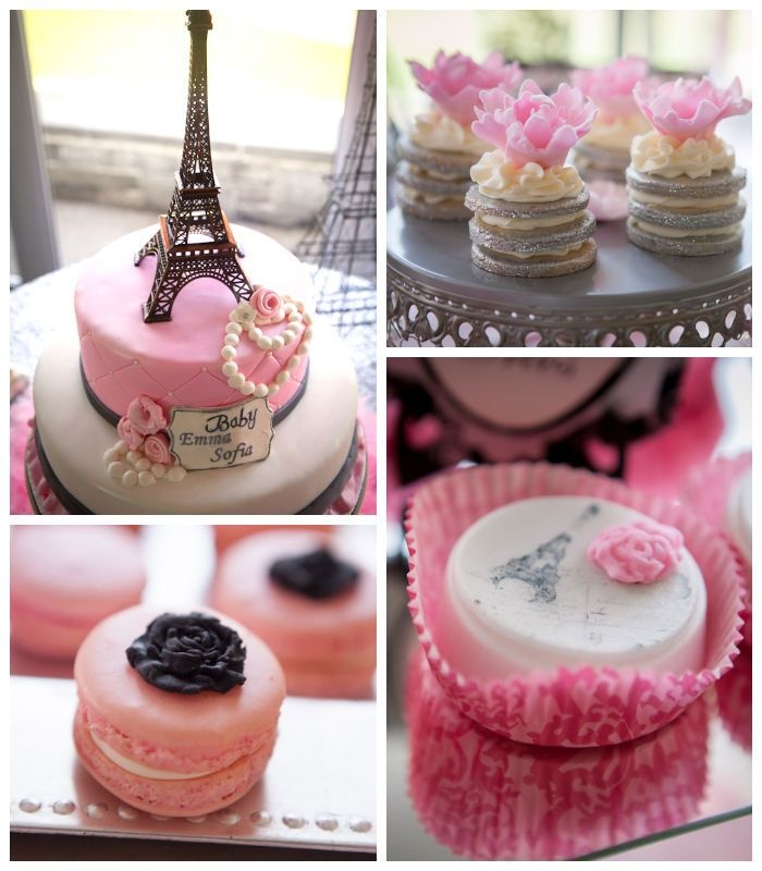 Pink Paris themed baby shower with So Many Really Cute Ideas via Kara's Party Ideas! full of decorating ideas, cakes, favors, games, and more! KarasPartyIdeas.com #parisparty #eiffeltower #paris #girlbabyshower #partyideas #partydecor #eventplanner #partydesign (1)