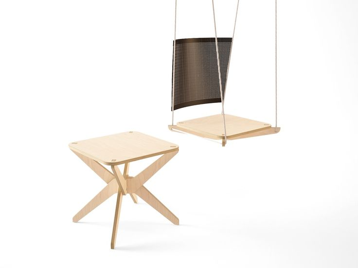 GDD 2014 / 30+ / A plywood swing and stool especially designed for Gdynia Design Days.