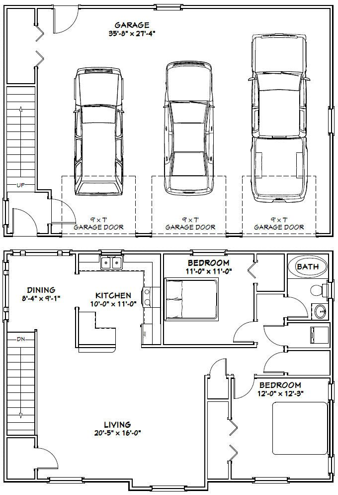 Best 25+ Garage apartment floor plans ideas on Pinterest | Studio ...