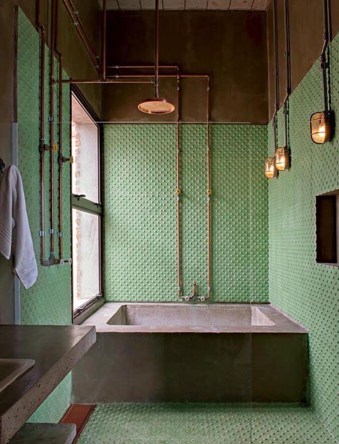 Green bathroom | #bathroom #interiordesign #opulen…