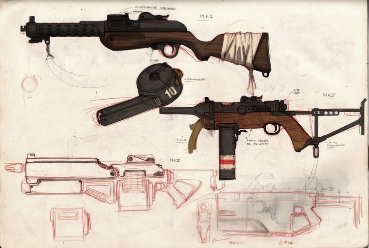 Smg concept art  by Lapo Roccella on ArtStation.
