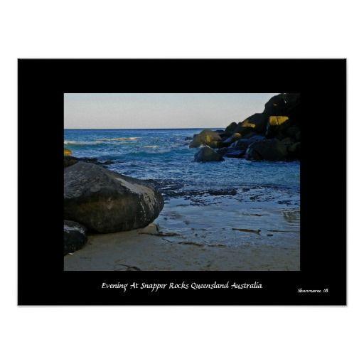 Evening At Snapper Rocks Queensland  Australia