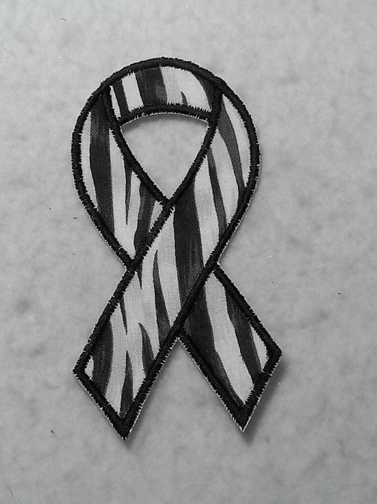 Black and White Zebra (Ehlers Danlos Syndrome - eds) Awareness Ribbon - MADE to ORDER - Choose SIZE - Iron on Applique Patch 6577 by TheFabricScene on Etsy