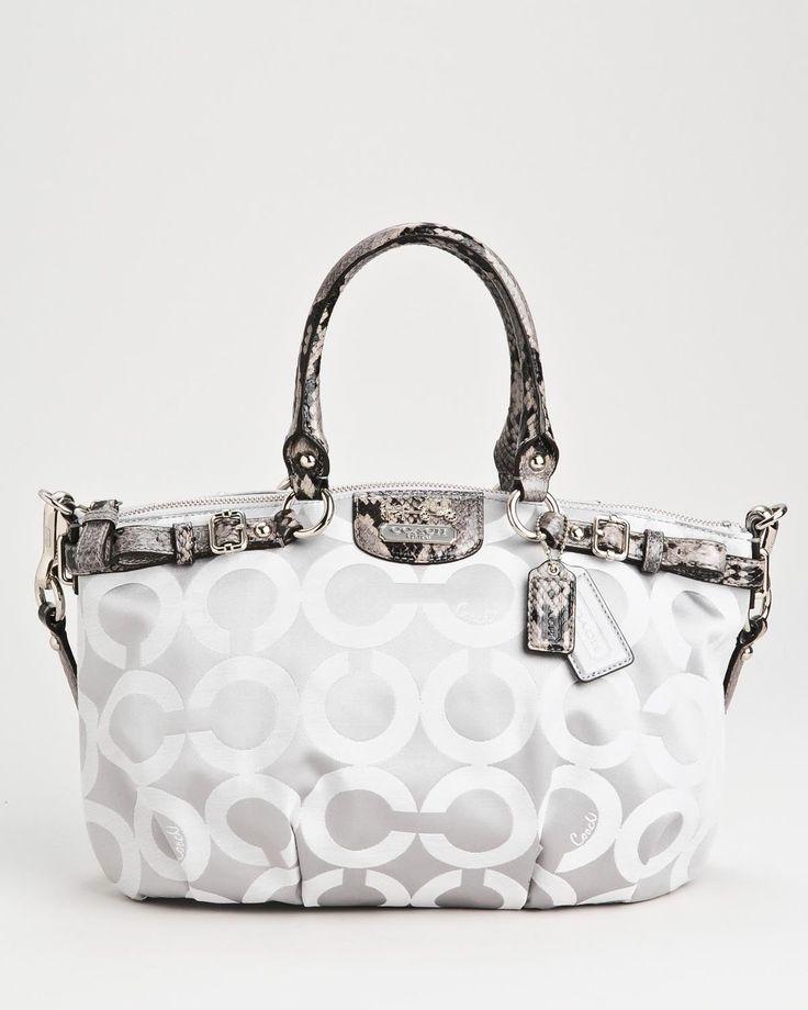 Product Name Brand New Coach Signature Print Snakeskin Embossed Handbag at Modnique.com $219