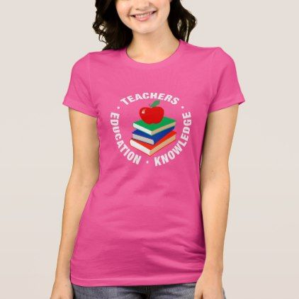 #teacher - #Back to School Books and Apple T-Shirt