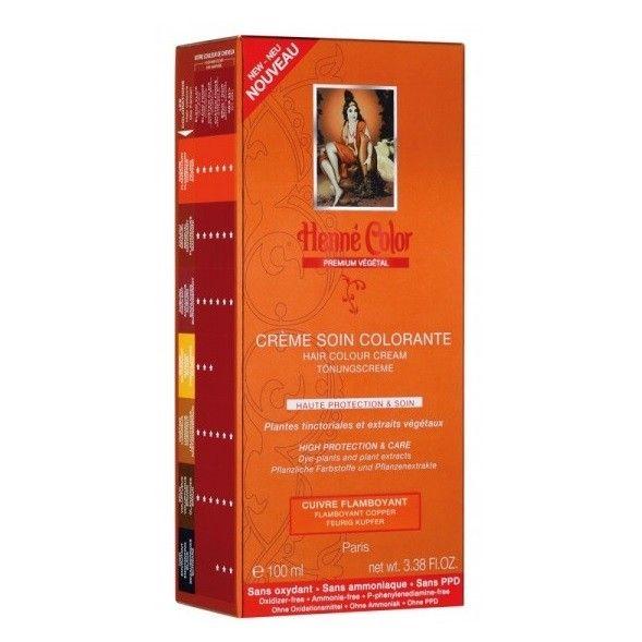crme soin colorante cuivre flamboyant 100 ml - Coloration Au Henn Auburn