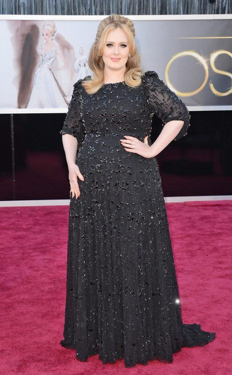Adele in Burberry at the 28th Annual Academy Awards (2013 Oscars). (EOnline.com)
