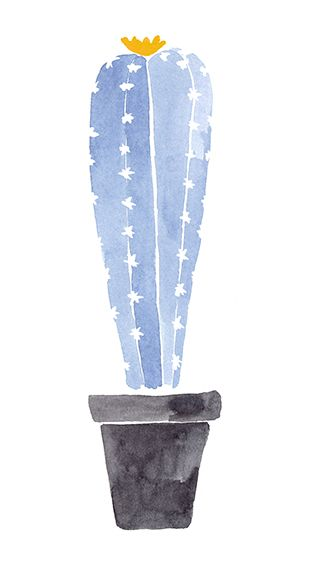 Cactus, Watercolour for KEREGAN