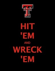 """And this is for my son. I will do anything for him, including yelling """"Wreck 'Em Tech"""""""