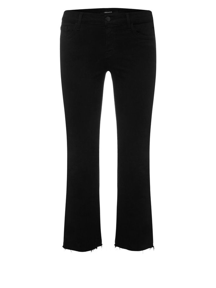 The J Brand Selena is this season's must have shape. The cropped bootcut in Black Bastille features a frayed hem and a subtle flare.Also available inUndertow (Blue Denim), Blanc (White Denim) and as a Black LeatherDetails98% cotton 2% elastaneMid-riseCroppedBootcutZip fly / Button closureSize and FitTrue to sizeModel wears size 26 (AU)Model is 173cm / 5'8in