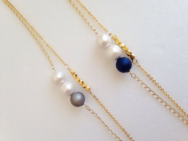 Dainty layered gold necklace