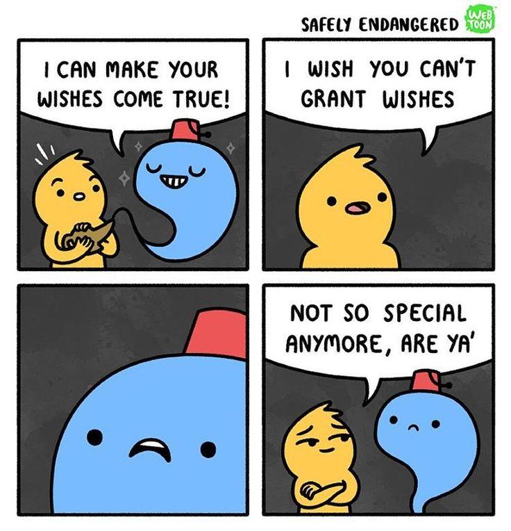 "16.9k Likes, 174 Comments - Safely Endangered Comics (@safely_endangered) on Instagram: ""Wishes #safelyendangered #webcomics #webcomics"""