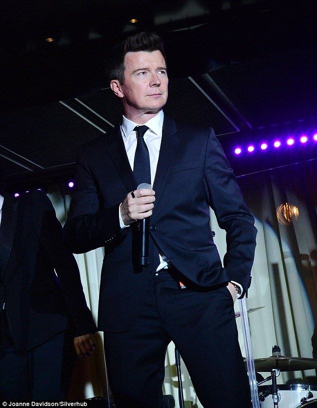 Back! Rick Astley has still got it - as he proved when he returned to the stage in central London on Monday