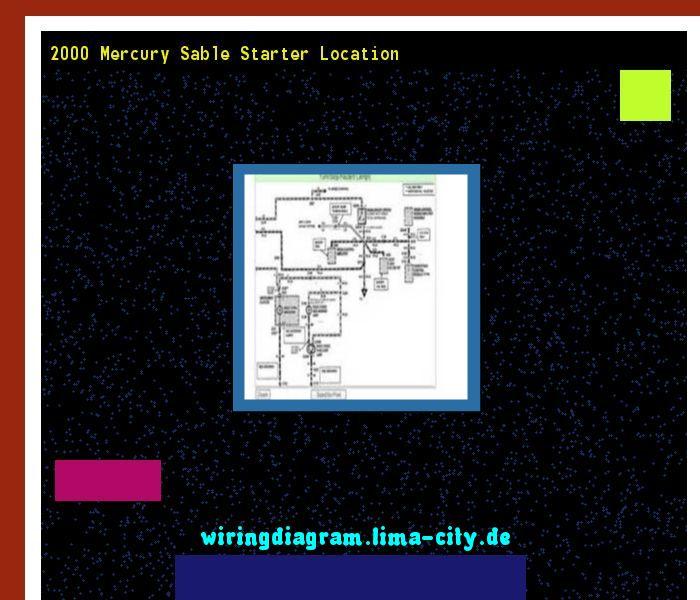 2000 Mercury Sable Starter Location  Wiring Diagram 175913