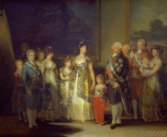 Francisco+Jose+de+Goya+y+Lucientes+-+Die+Familie+Karls+IV.