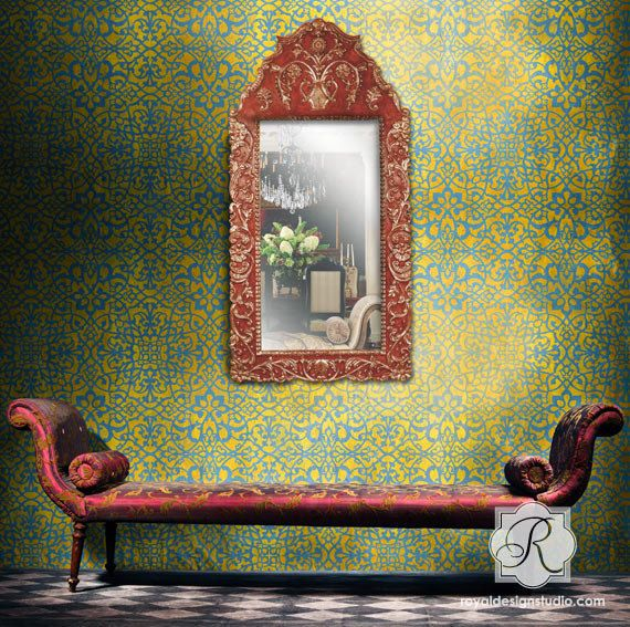 Tapeten Marokkanische Muster : Royal Design Studio Moroccan Wall Stencils
