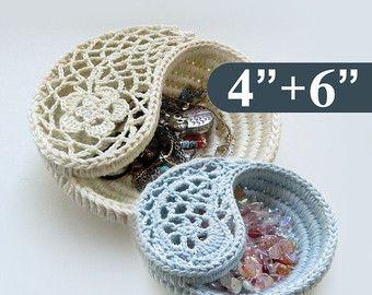Crochet Basket Pattern Yin Yang Jewelry Dish 6 Photo by goolgool