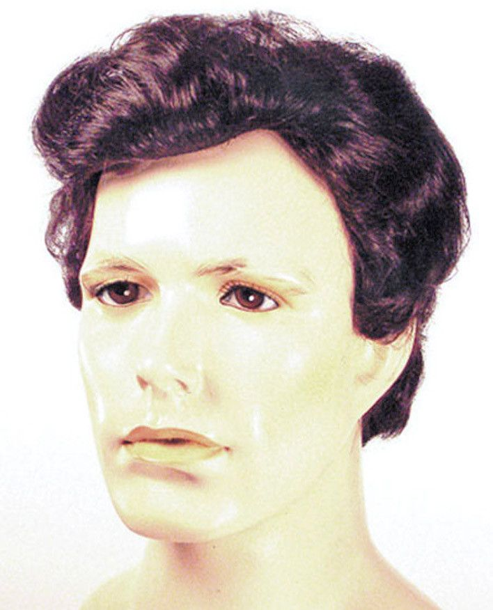 costume accessory: greaser men wig | black/grey