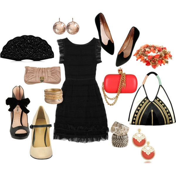 Black dress Up or Down, created by jonobo on Polyvore