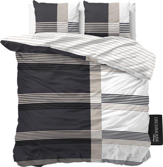 Dreamhouse Bedding Bruce - Dekbedovertrekset - Lits-Jumeaux - 240x200/260 + 2 kussenslopen 60x70 - Antraciet