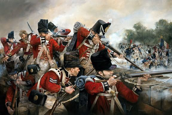 Le giubbe rosse a difesa di Hougoumont (The Guards defend Hougoumont, Waterloo, 1815)