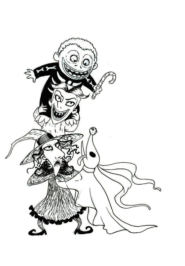 Download Nightmare Before Christmas Coloring Pages
